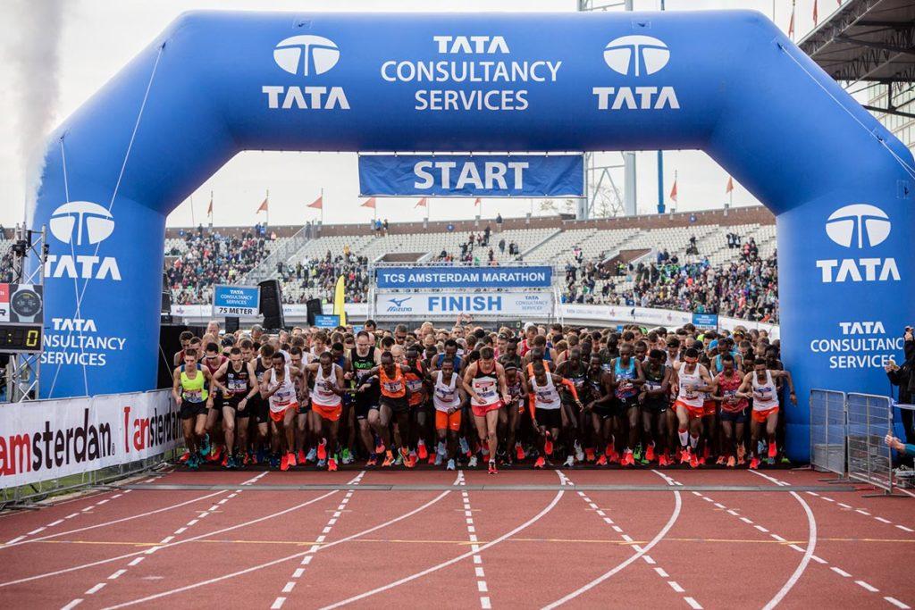 Start marathon Amsterdam