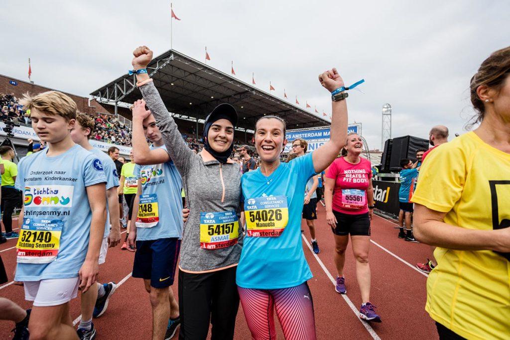 Deelneemsters marathon