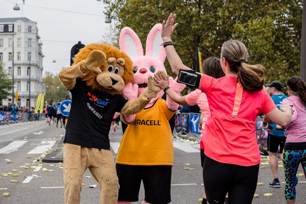 Mascottes marathon Amsterdam